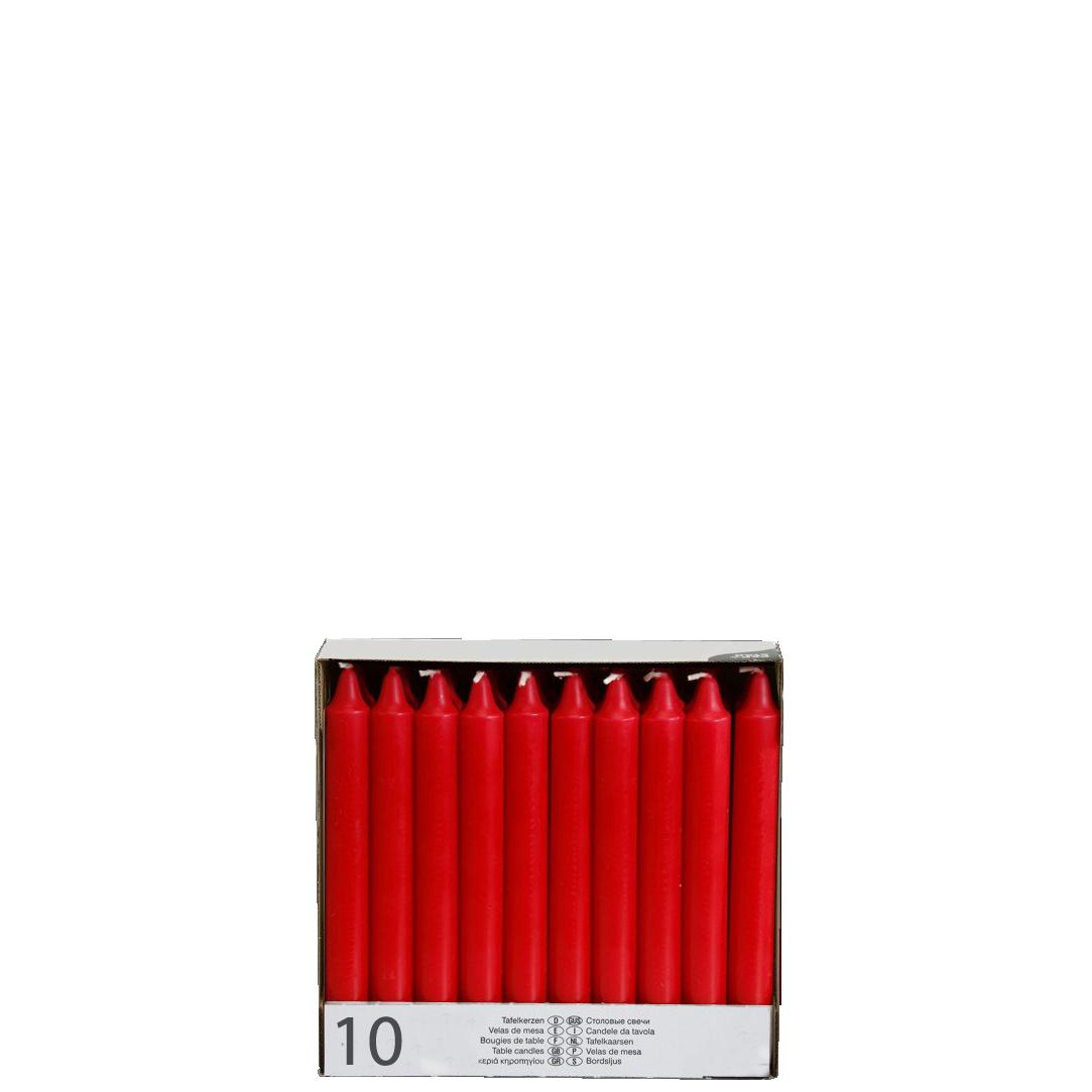 10 Kerzen, rot