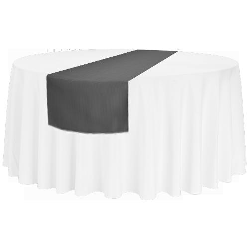 Tischläufer für runde 150'er/180'er Tische und rechteckige Bankett-Tische, anthrazit