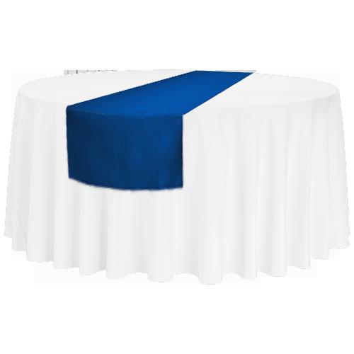 Tischläufer für runde 150'er/180'er Tische und rechteckige Bankett-Tische, blau