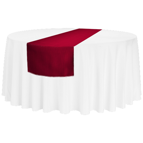 Tischläufer für runde 150'er/180'er Tische und rechteckige Bankett-Tische, bordeaux