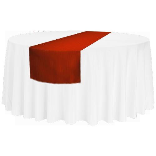 Tischläufer für runde 150'er/180'er Tische und rechteckige Bankett-Tische, rot