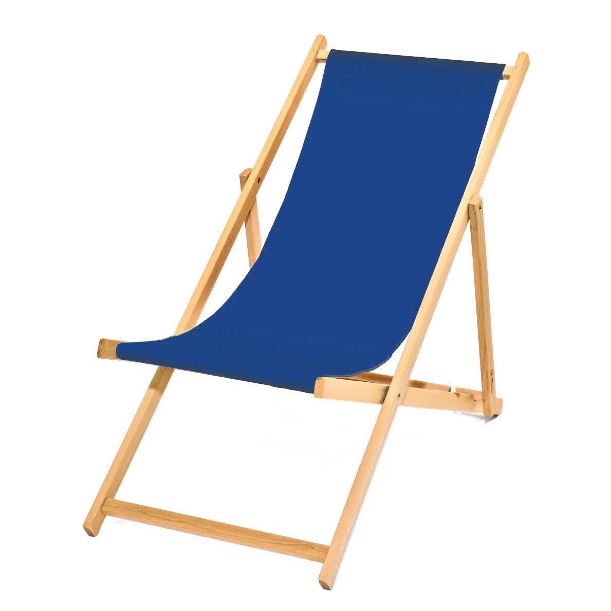Liegestuhl (blau)